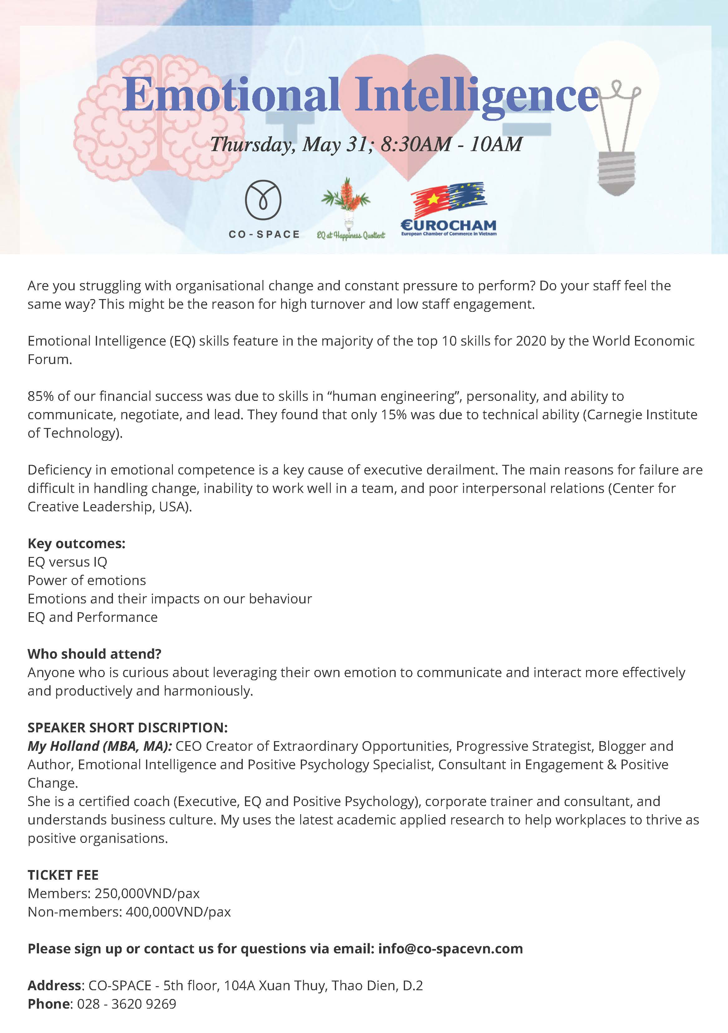 Supported Event: Emotional Intelligence | European Chamber
