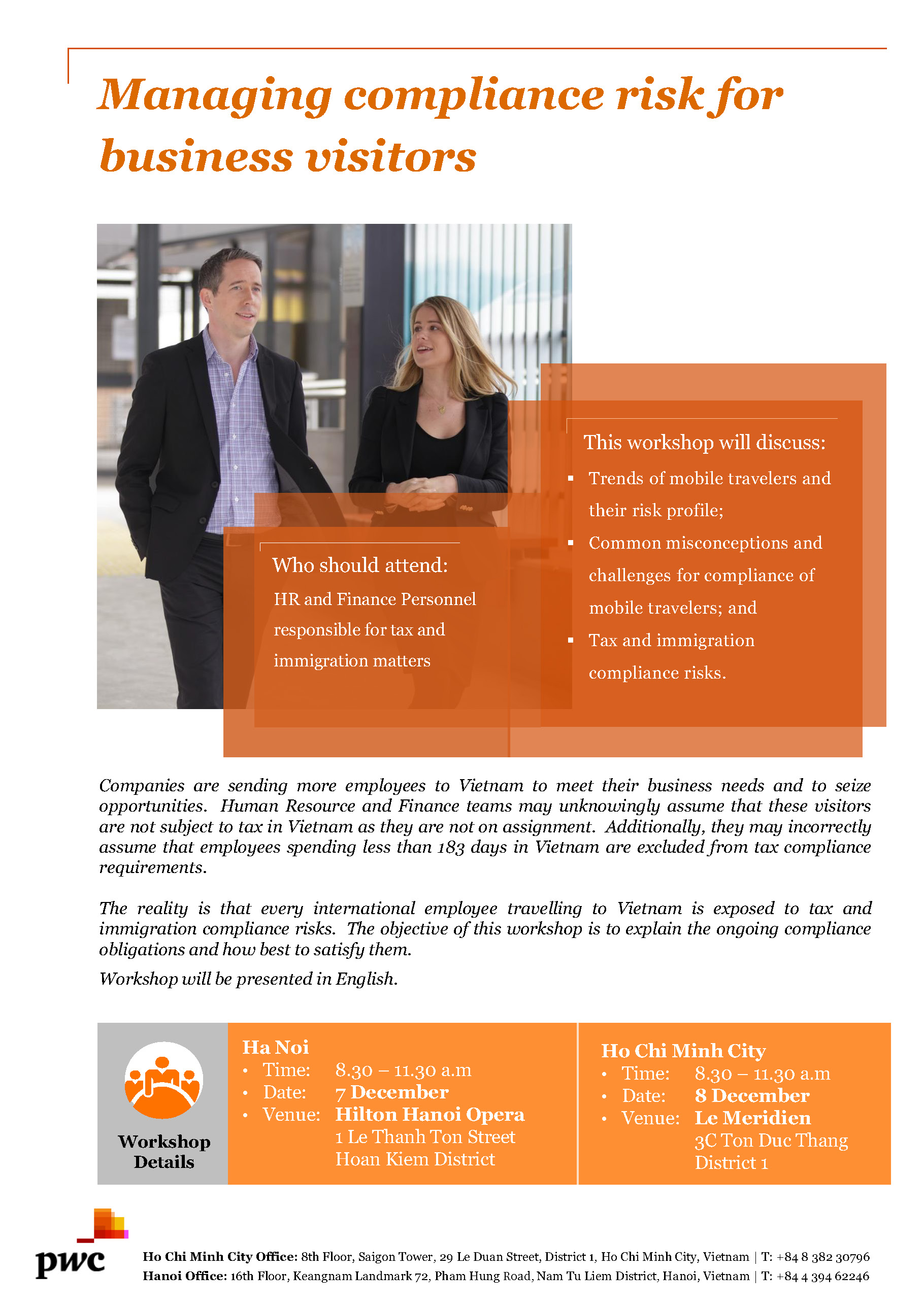 pwc workshop managing compliance risk for business visitors