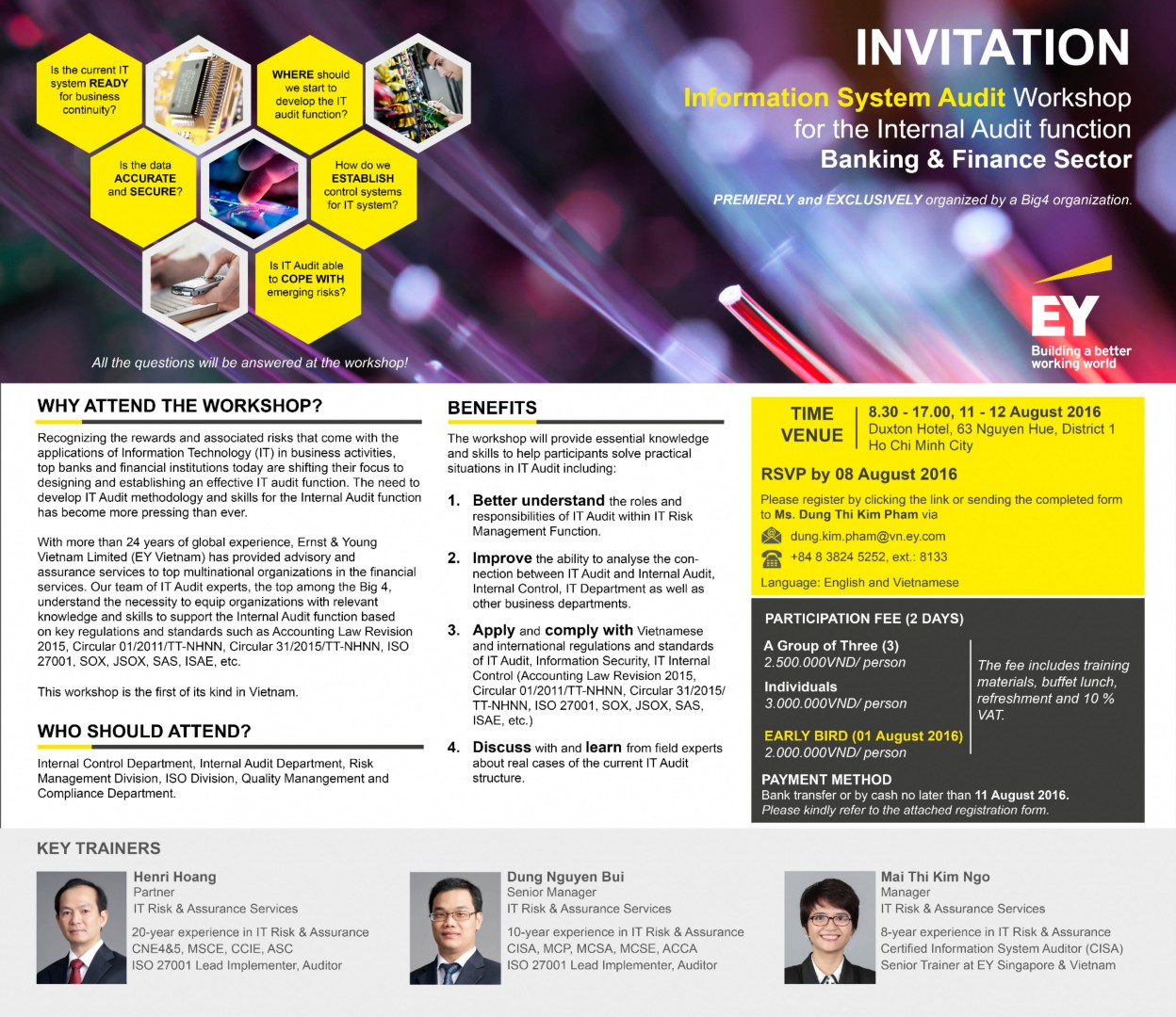 Supported Event: Ernst & Young's Information System Audit